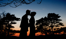 Wedding silhouette at Lunga House