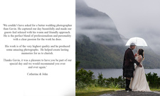 Glenfinnan House Hotel wedding testimonial