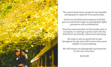 Aberfeldy wedding testimonial