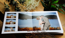 Harris Tweed Wedding Album Pages