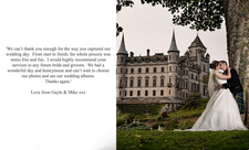 Dunrobin Castle Wedding Testimonial